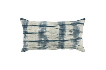 Accent Pillow-Saltwater Blue Tie Dye 14X26