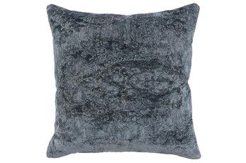 Accent Pillow-Saltwater Blue Stonewashed Chenille 22X22