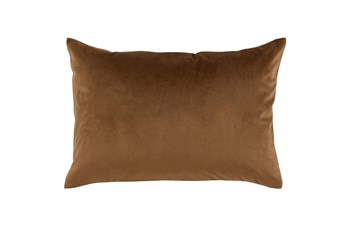 Accent Pillow-Chestnut Smooth Velvet 14X20