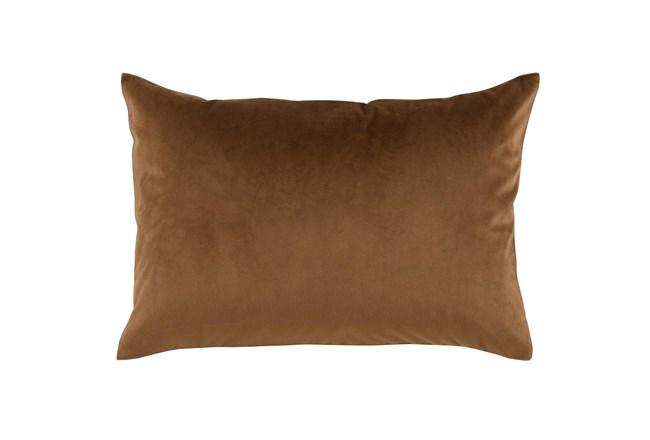 Accent Pillow-Chestnut Smooth Velvet 14X20 - 360