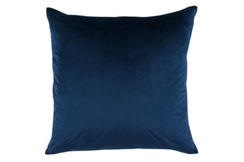 Accent Pillow-Ocean Blue Smooth Velvet 22X22