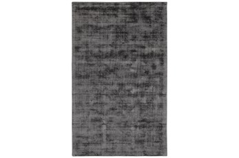 60X96 Rug-Modern Distressed Charcoal Woven