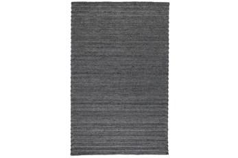 60X96 Rug-Modern Charcoal Plush Wool Blend