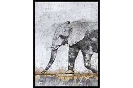Picture-Black & White Elephant I