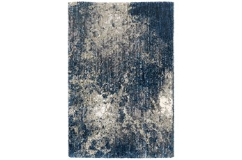 63X91 Rug-Asher Abstract Shag Blue