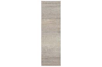 27X91 Runner Rug-Carlton Abstract Distressed Grey