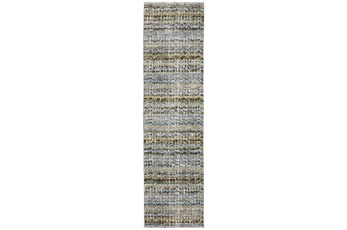 26X100 Runner Rug-Axel Abstract Stripe Blue
