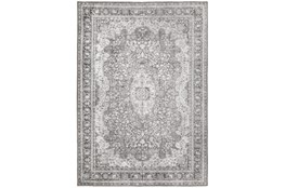 51X75 Rug-Scarlett Border Medallion Grey