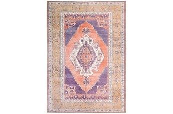 63X91 Rug-Scarlett Persian Medallion Purple