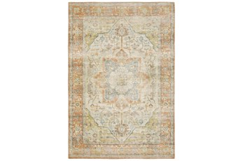 94X120 Rug-Syrah Abstract Medallion Orange