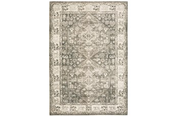 94X120 Rug-Syrah Oriental Distressed Charcoal