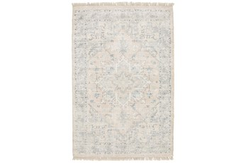 60X96 Rug-Macon Border Medallion Beige