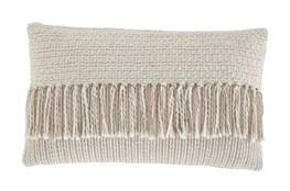 Accent Pillow-Tassel Accent Cream/Tan 20X12