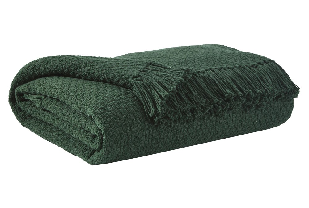 Accent Throw-Waffle Emerald Green
