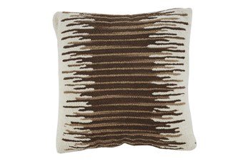 Accent Pillow-Handwoven Stripe Brown/Cream 20X20