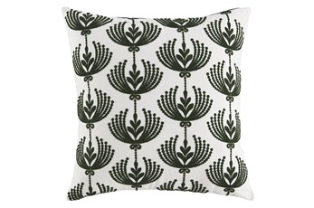 Accent Pillow-Botanical Cream/Emerald 20X20