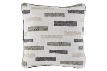 Accent Pillow-Block Black/Brown/Cream 18X18