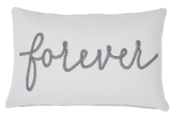 Accent Pillow-Forever Gray 22X14
