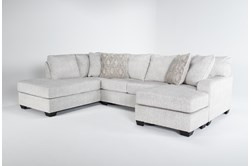"Cambrie 124"" 2 Piece Dual Chaise Sectional With Right Arm Facing Sofa Chaise"