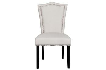 Grey Nailhead Dining Chair