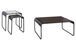 Lang Brown/Black 3 Pc Occasional Table Set