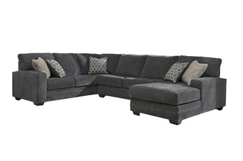 "Tracing Slate 3 Piece 143"" Sectional With Right Arm Facing Chaise"