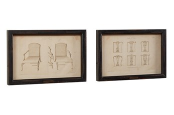 Magnolia Home Chair Print In  Wood Frame,Blk S/2 By Joanna Gaines
