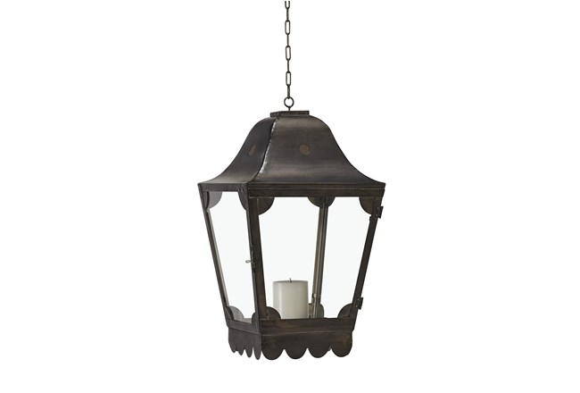 Magnolia Home Glass + Metal Hanging Scallop Lantern By Joanna Gaines - 360