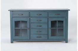 Jamestown Blue 62 Inch Cabinet