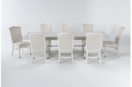 Martin 9 Piece Dining Set With Upholstered Side Chairs