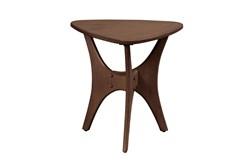INK+IVY Blaze Triangle Wood Side Table