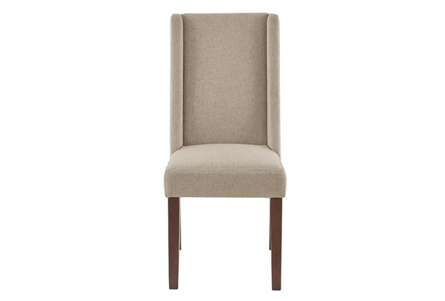 Madison Park Taye Taupe Wing Dining Side Chair Set Of 2 - 360