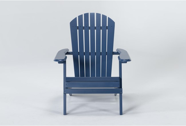 Navy Outdoor Adirondack Chair - 360