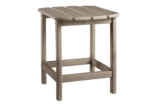 Verbena Taupe Outdoor End Table - 360