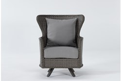 Sanibel Outdoor Swivel Wing Back Chair