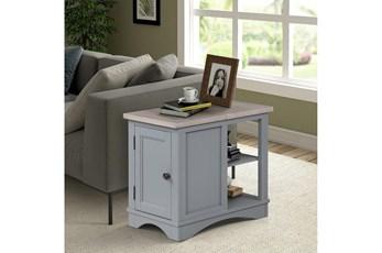 Americana Dove Modern Chairside Table