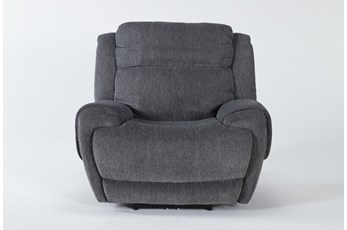 Terence Graphite Power Recliner With Power Headrest & Usb