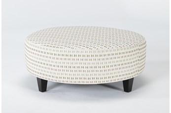Perch II Fabric Large Round Ottoman