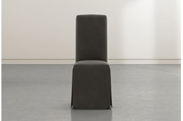 Garten Dark Grey Skirted Dining Side Chairs Set Of 2