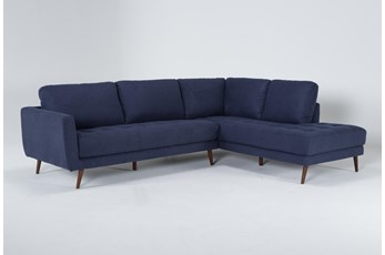 "Ginger Denim 2 Piece 110"" Sectional With Right Arm Facing Chaise"