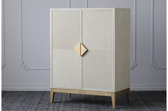 Cream + Gold Wine Cabinet