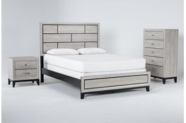 Finley White Eastern King 3 Piece Bedroom Set