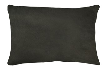 14X20 Geo Raven Brown Gray Throw Pillow