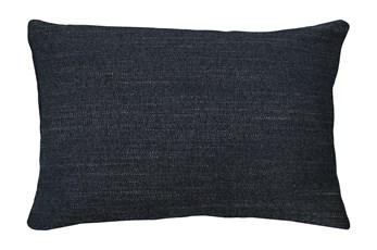 14X20 Curious Eclipse Navy Blue Throw Pillow