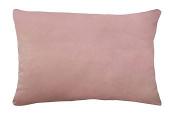 14X20 Superb Peony Pink Velvet Throw Pillow