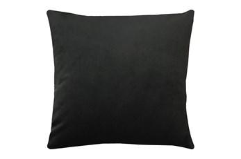 20X20 Superb Gunmetal Black Velvet Throw Pillow