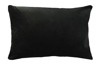 14X20 Superb Gunmetal Black Velvet Throw Pillow
