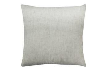 20X20 Caitlin Flax White Linen Throw Pillow