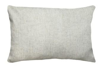 14X20 Caitlin Flax White Linen Throw Pillow