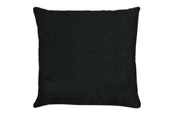 20X20 Bravado Caviar Black Throw Pillow